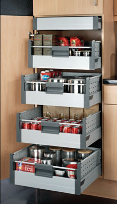Internal shelves for kitchen cupboards