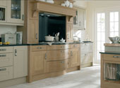 Broadoak Painted Kitchen Design - Shown in Linen and Oak
