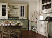 Cornell Painted Kitchen Design - Shown in Alabaster and Willow
